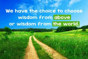The choice of where wisdom comes from